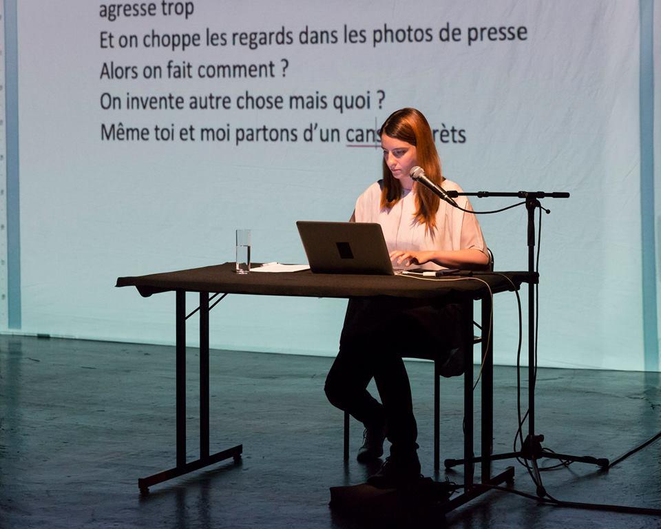 Mondes d'Alexandra Badea | Performance à Théâtre Ouvert en juin 2015 © Pierre Grosbois